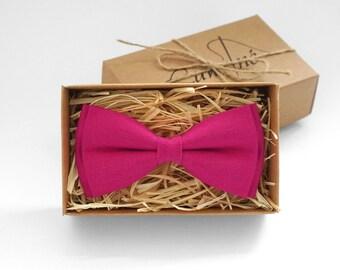 Pink mens bow tie, Fuchsia tie, boys bow ties, deep pink bow tie, mens tie, mens bow tie, bow ties for men, pocket square, for wedding