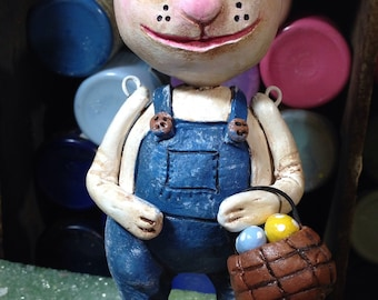Easter Bunny art doll