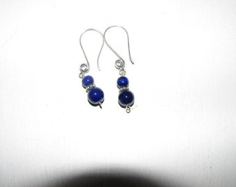 Cobalt Blue Ceramic bead Earrings