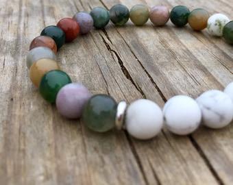 Earth Tones Beaded Bracelet