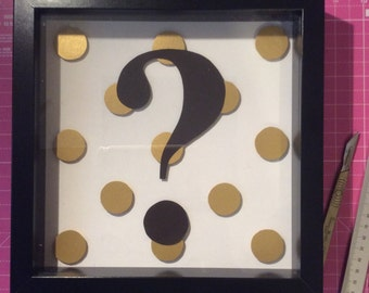 Gold and Black Question Mark papercut