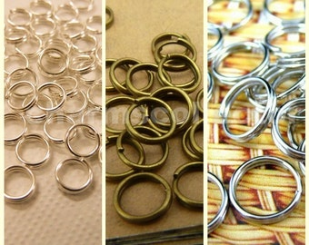 60g Split rings wholesale jewelry findings, 5mm/ 6mm/ 7mm/ 8mm/ 10mm/ 12mm, Bronze/ Silver/ White Gold  available