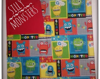 Baby blanket/ baby receiving blanket/ swaddle blanket/ newborn swaddle wrap/ monster blanket/ baby gift/ shower gift/ newborn gift