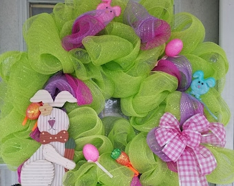 Mesh wreaths, holiday, spring