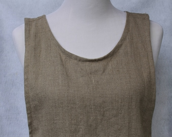 Linen Apron--Japanese Crossback Apron in Natural Linen