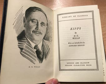 Kipps H G Wells Collins Clear Type Press Library of Classics Blue Soft Back Book