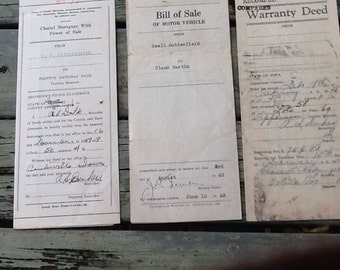 1940s Deeds Warranty & Bill of Sale