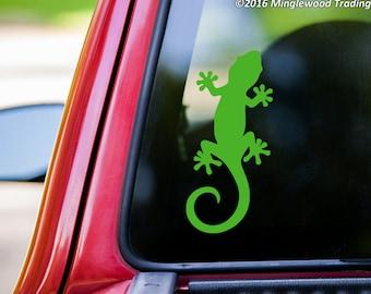 "Gecko vinyl decal sticker 5"" x 2.5"" Lizard Reptile  *Free Shipping*"