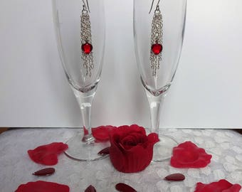 Silver Earrings and Swarovski crystals