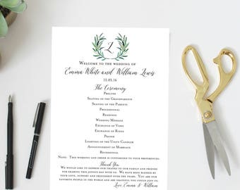 Wedding Program | Greenery | Succulents | Leaf Program | Wedding Program Fan | Program Fan | Ceremony Program | Ceremony Fan | Wedding Fan