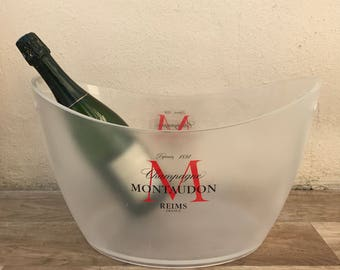 Vintage French Champagne French Ice Bucket Cooler Basin MONTAUDON BIG 10021826