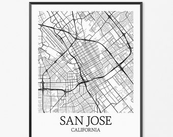 San Francisco Map Art Print San Francisco Poster Map of San