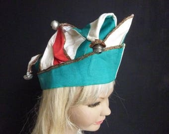 Incredibly beautiful antique dunce cap, cap and bells, jester, clown, circus,theatre...CHARMANT!