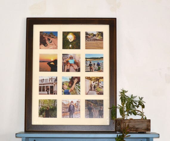 Collage Frame 16x21 Outside Cove Style with Mat Windows