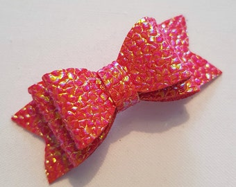 Red Two-Tone Iridescent Hair Bow
