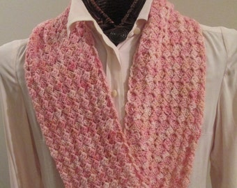 Pink Pearls Hand-Dyed Infinity Scarf