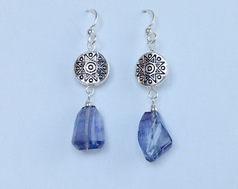 faceted amethyst and silver dangles