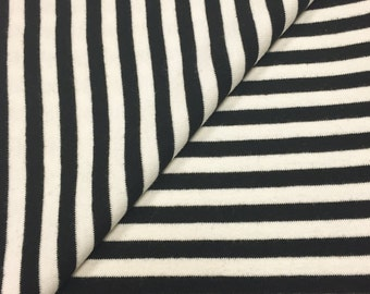 "100% Cotton 1/4"" Striped 1x1 Rib Knit Fabric"