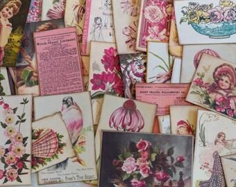 Tickled Pink Ephemera Pack 40 Pieces