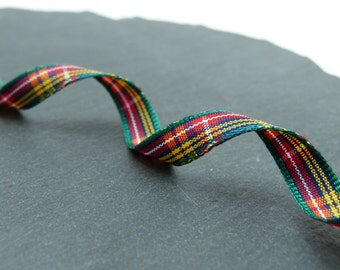 Buchanan Scottish Tartan Ribbon 7mm Wide Berisfords Per Metre