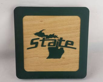 MSU State of Michigan Coasters