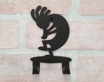 Kokopelli Wall Hook - Southwestern décor - Double Hook Kokopelli Wall Art – Mudroom hook – Key hook - Natural home décor – Bathroom Hook