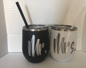 Mr. and Mrs. tumblers