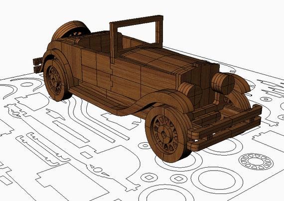 Items similar to Vintage car model plan V2 on Etsy