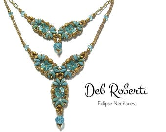 Eclipse Necklaces beaded pattern tutorial by Deb Roberti