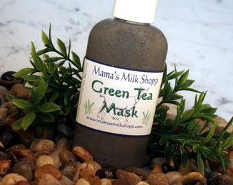 Goat Milk - Green Tea - Facial Mask - Blackhead Remover - Unclog Pores  - Skin Care - Moisturizer - Made in Wisconsin