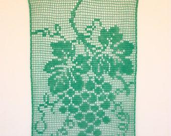 Handmade bohemian crochet wall hanging