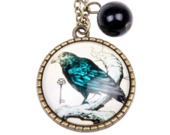 Gothic Raven Necklace Gothic jewelry, Raven jewelry, 2525C
