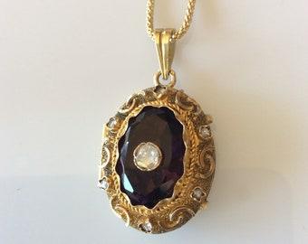 Victorian Diamond Locket