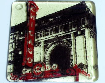 Greetings from Chicago Single Coaster | Chicago Theater