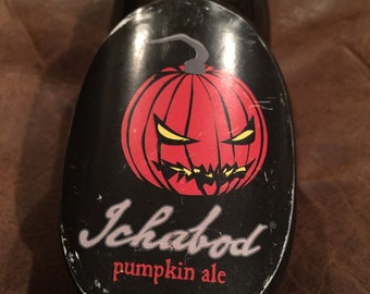 Ichabod pumpkin ale tap handle