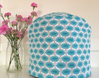 Instant Pot Cover - Reversible - Aqua Blue Floral and Gingham