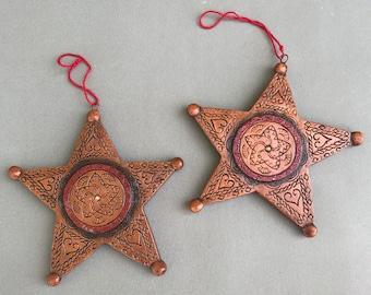 Vintage ornaments set of 2