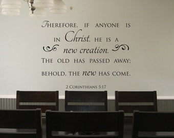 """Vinyl Decal 2 Corinthians 5:17 