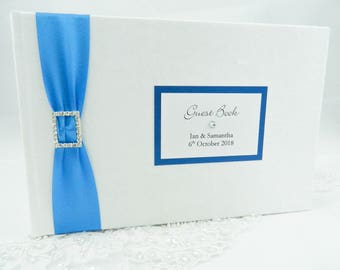 Diamante Classic Wedding Guest Book - LARGE SIZE
