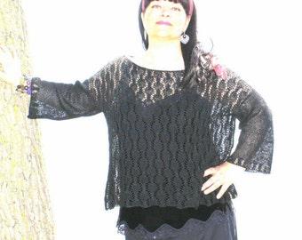 Pattern - Linea Lace Tunic Knitting Patterns Sizes XS/S, M/L and XL/1X