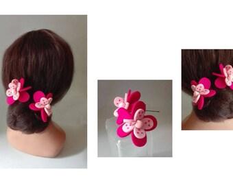 peak bun flower Haarnadeln flower hair clip, barrette, hair stick hair pin