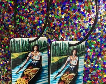 La Chalupa Earrings, Loteria Earrings, Loteria Jewelry, La Chalupa, Festival Earrings, Hoop Earrings, Oversized Earrings, Summer Earrings