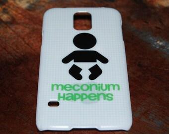 Meconium Happens OB/GYN Nurse Case For Samsung Galaxy S4 S5 Case Pediatric Nurses Newborn Phone Funny Humor Needle Nursing RN Back Cover c70
