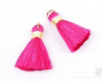 BULK Order: T002-RA-PK// Pink, Ivory Rayon Tassel Pendant, 20pcs, 23mm