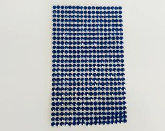 Plate 468 rhinestone stickers 4mm blue cabochon