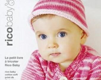 RICO BABY Petit livre à tricoter 15 designs pour bébé 0 à 24 mois en coton soft print 006