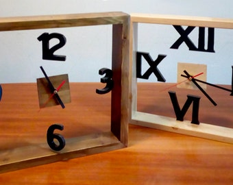 Framed Wall clock, wall or floor.
