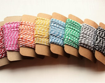 Beautiful Two-Tone Bakers Twine in Vibrant Colours. Premium Quality Cotton Bakers Twine