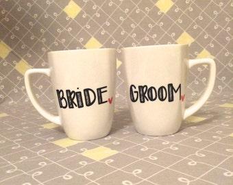 Bride & Groom Mugs. Wedding Mugs. Engagement Mugs.
