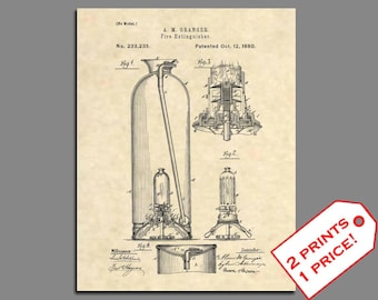 Fireman Home Decor - Fireman Wall Art - Fire Extinguisher Prints - Firefighter Patent Print - Vintage Fire Patent Poster Patent Art -64